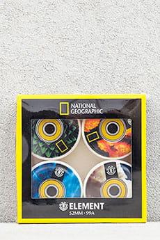 Колеса для скейтборда Element Nat Geo Wheels Assorted 99A 52 mm