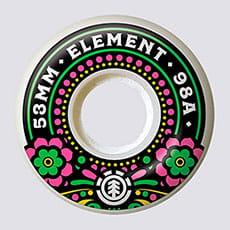 КОЛЕСА ДЛЯ СКЕЙТА (4 шт) Element  RECUERDA FLORES 53mm ASSORTED