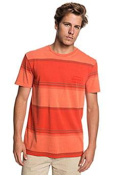 Футболка QUIKSILVER Gradient Stripe Orange Rust Gradient