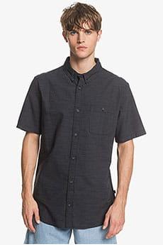 Черный мужская рубашка с коротким рукавом firefall