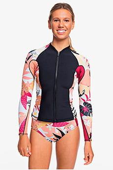 Женский гидрокостюм с длинным рукавом и молнией на груди 1mm POP Surf Roxy