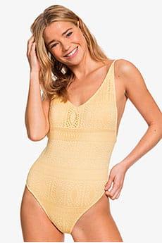 Желтый женский купальник roxy sweet wildness