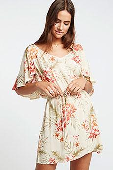 Персиковый платье fine flutter