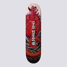 Дека для скейтборда Element Доска 8.1 Reptilicus Nyjah 1 8.1 (20.6 см)