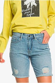Голубые женские широкие джинсовые шорты womens