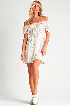 Персиковый платье-мини с принтом billabong fall for love