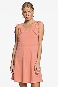 Персиковый женское платье без рукавов spellbound wave