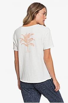 Персиковый женская футболка с карманом roxy star solar