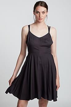 Персиковый платье из твила heart
