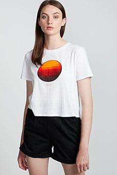 Персиковый футболка nat geo crop