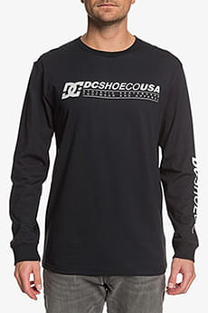 Лонгслив DC Shoes Longerls M Tees Kvj0 Black-10