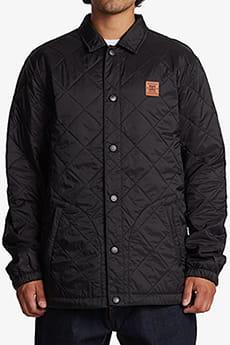 Черный стеганая куртка stay true