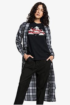 Серый женская удлинённая рубашка с длинным рукавом womens
