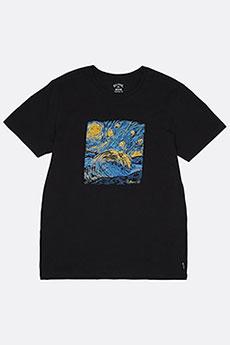 Черный мужская футболка night session