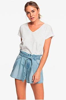 Светло-серые женские джинсовые шорты с высокой талией salento playa