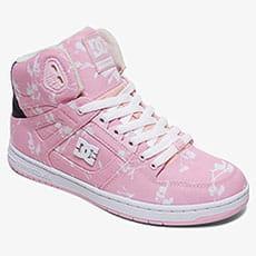 Розовые женские высокие кеды pure high-top tx