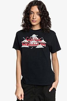 Черный женская укороченная футболка womens