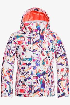 Оранжевый детская сноубордическая куртка roxy jetty 8-16