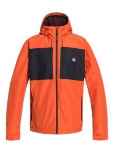 Оранжевый мужская куртка с капюшоном lizard head