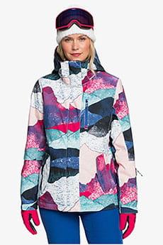 Мультиколор женская сноубордическая куртка roxy jetty