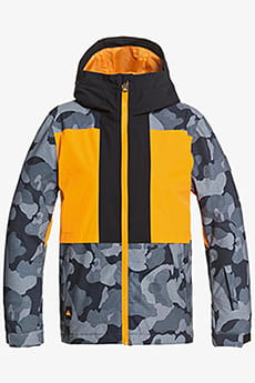 Оранжевый детская сноубордическая куртка groomer 8-16