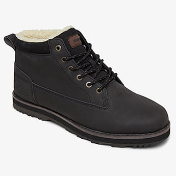 Белый мужские кожаные зимние ботинки mission v