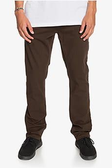 Коричневый мужские брюки-чинос krandy slim