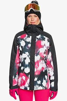 Черный женская сноубордическая куртка galaxy