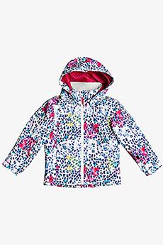 Куртка сноубордическая детский Roxy Mini Jetty Bright White Leopold