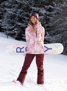 Темно-розовый женские сноубордические штаны rideout
