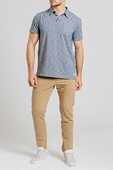Серое мужская рубашка-поло sun cruise stretch