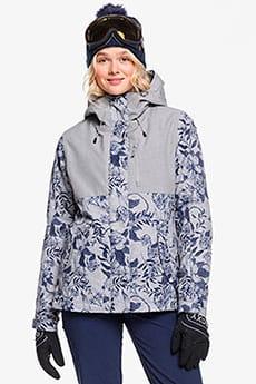 Серый женская сноубордическая куртка roxy jetty 3-in-1