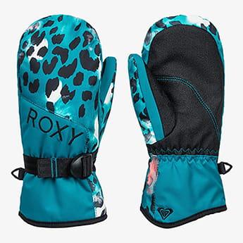 Голубые детские сноубордические варежки roxy jetty 8-16