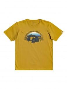 Желтый детская футболка come sail away 8-16