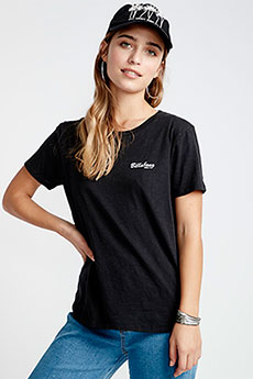 Черный футболка женская billabong peaceful pines
