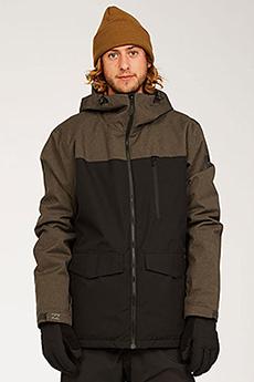 Черный мужская сноубордическая куртка all day