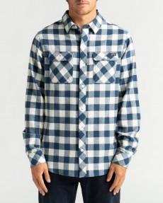 Коричневый мужская рубашка с длинным рукавом all day flannel