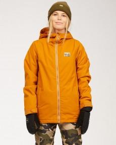Персиковый женская сноубордическая куртка sula