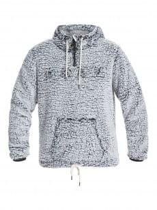 Черный женское флисовое худи pluma sherpa