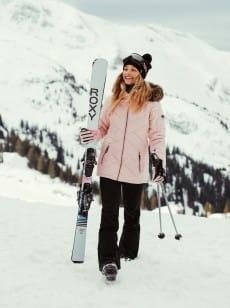 Темно-розовый женские сноубордические штаны spiral