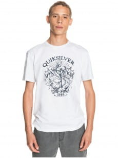 Белый мужская футболка quiet darkness