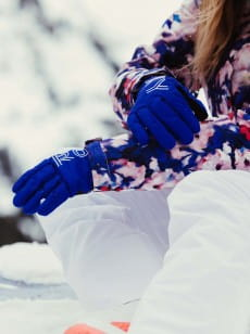Темно-розовые женские сноубордические перчатки freshfield