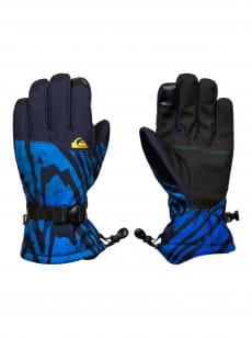 Синие мужские сноубордические перчатки mission