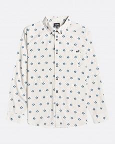 Коричневый мужская рубашка с длинным рукавом sundays mini