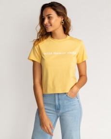 Желтый женская футболка wild child