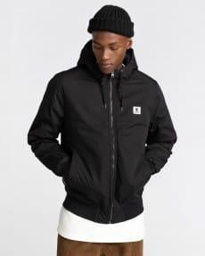 Черный водонепроницаемая мужская куртка wolfeboro dulcey