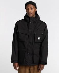 Черный водонепроницаемая мужская куртка wolfeboro mountain