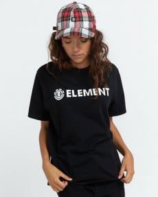 Черный женская футболка logo