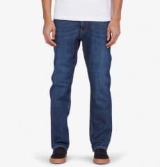 Синие мужские прямые джинсы worker straight