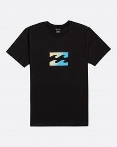 Черный мужская футболка team wave
